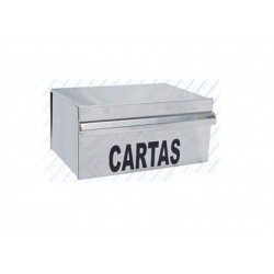 CAIXA DE EMBUTIR P/ CORRESPONDÊNCIA INOX 15x25