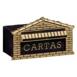 CAIXA C/ SUPORTE P/ CORRESPONDÊNCIA TIJOLINHO ENVELHECIDO 15X25 1205 - METASAL
