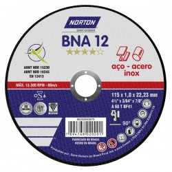 DISCO DE CORTE 115x1,0x22,2 BNA12 - NORTON