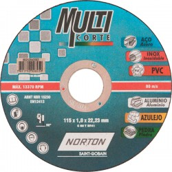 DISCO DE CORTE MULTICORTE 115x0,1x22,2 - NORTON