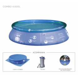 PISCINA SPLASH FUN Ø3,60M X 90CM - 7.800L - COMBO 110V - 2.200L/H 60HZ 46W